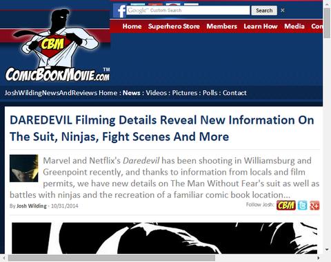ドラマ「デアデビル」の撮影の詳細はより多くの新情報を明らかにする!