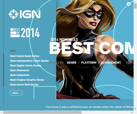 IGNによる2014年のベストコミックブックが発表!
