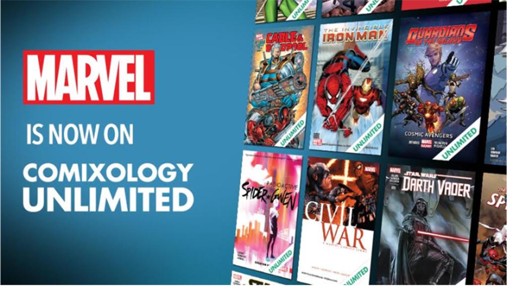 デジタルで読み放題となる『Comixology Unlimited』と『Kindle Unlimited』にマーベルが参加!