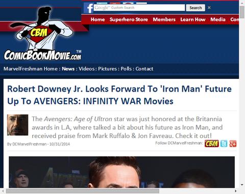 ロバート・ダウニー・Jr.は「アベンジャーズ:インフィニティ・ウォー」までの「アイアンマン」の将来を楽しみにしている!