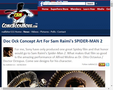 サムライミ版スパイダーマン2のドクター・オクトパスのコンセプトアートが公開!