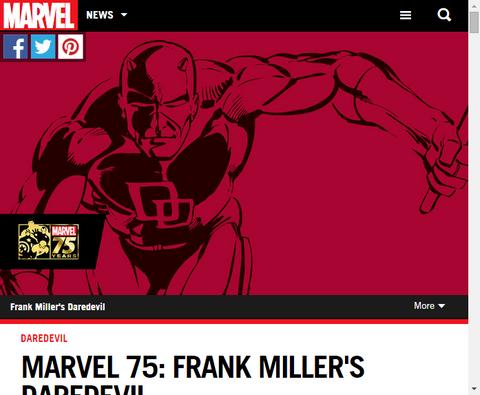 マーベル75:フランク・ミラーのデアデビルを振り返る!