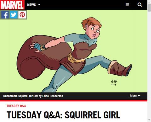火曜日のQ&A:スクィレル・ガールを手掛けるライアン・ノース!