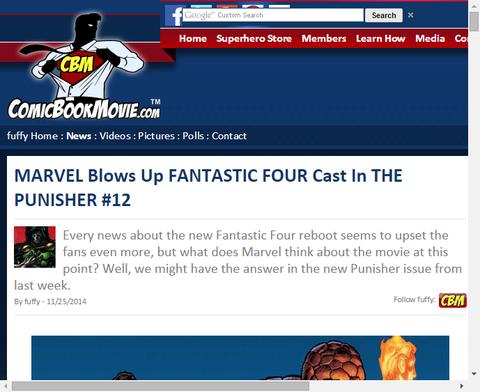 パニッシャー #12にリブート版ファンタスティック・フォーのキャストが登場!