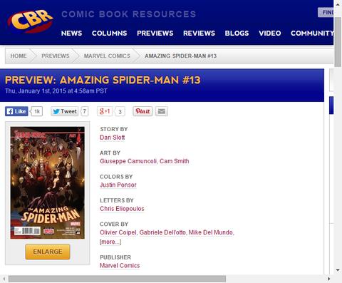 これまでで最も驚くべきスパイダーキャラ!アメイジング・スパイダーマン #12のプレビュー!
