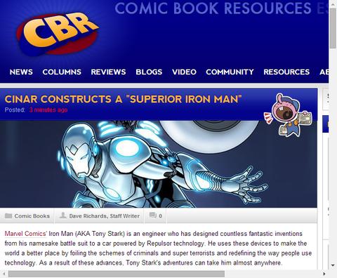 アーティストのイルディレイ・シナーが作る「スぺリアー・アイアンマン」とは!