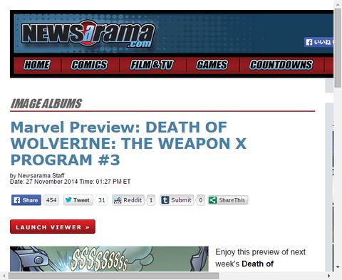 チームに明かされる過去とは!?デス・オブ・ウルヴァリン:ザ・ウェポンX・プログラム #3のプレビュー画像が更新!