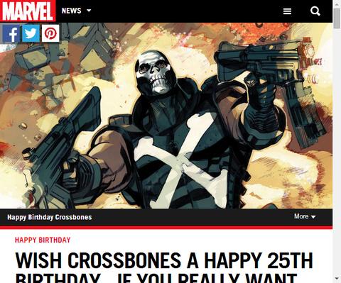クロスボーンズ生誕25周年!祝おう!あなたが望むならね