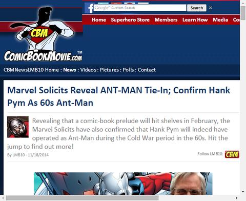 マーベルは映画アントマンの関連コミックを発売しハンク・ピムの60年代を確かなものにする!