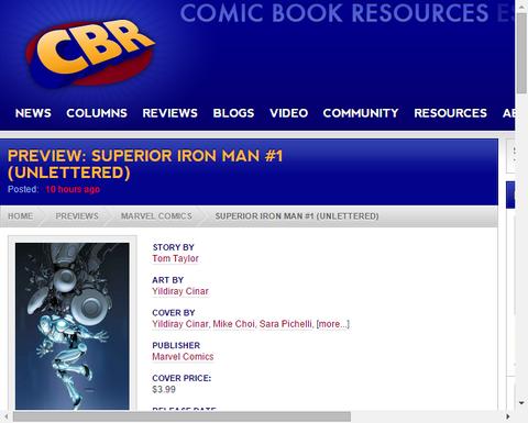 「スペリアー・アイアンマン #1」の新たなプレビュー画像!