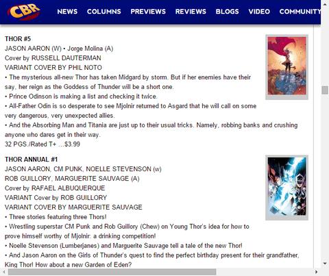 ソー達の3つの異なるストーリー!ソー・アニュアル #1のプレビュー!