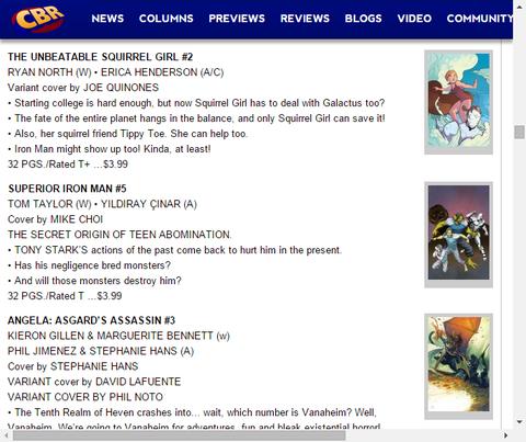 ギャラクタスから惑星を救え!ザ・アンビータブル・スクィレル・ガール #2のプレビュー!