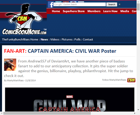 映画「キャプテン・アメリカ:シビルウォー」のファンアートポスターがかっこいい!