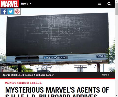 エージェント・オブ・S.H.I.E.L.D.がロサンゼルスのビルボードに掲載!