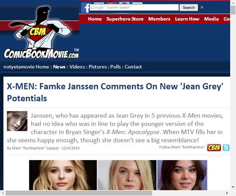 X-MENの新たな『ジーン・グレイ』の可能性についてファムケ・ヤンセンがコメントする!