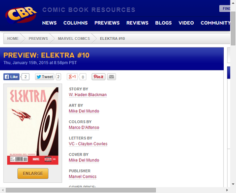 エレクトラはグィルドを止められるか!?エレクトラ #10のプレビュー画像が更新!