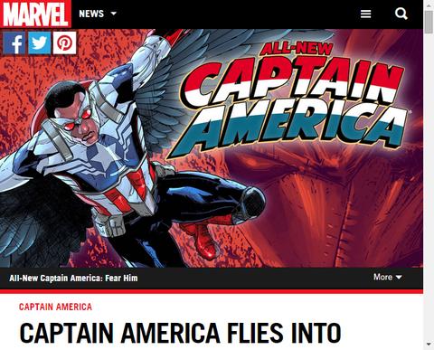 キャプテン・アメリカはインフィニティ・コミックに飛びこむ!トム・ブレヴォ―ドのインタビュー!