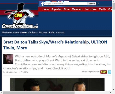 ブレット・ドルトンはスカイ/ウォードの関係、エイジ・オブ・ウルトロン関連とより多くを話す!