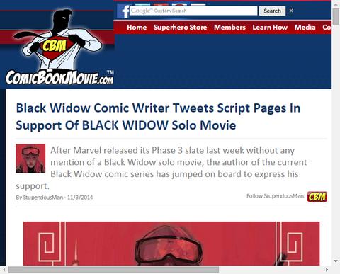 ブラックウィドウのコミック・ライターはツイッターでブラックウィドウのソロ映画を支持する!