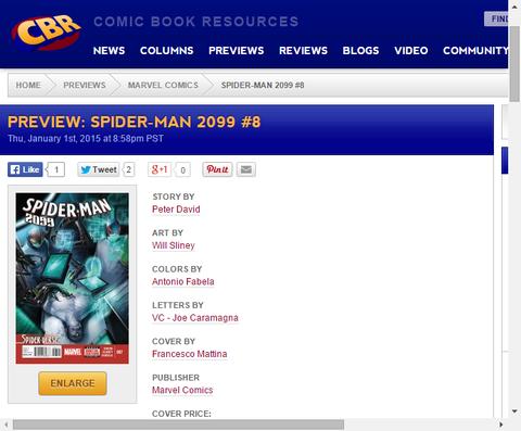 スパイダーバースのタイイン!スパイダーマン 2099 #7のプレビュー画像が更新!
