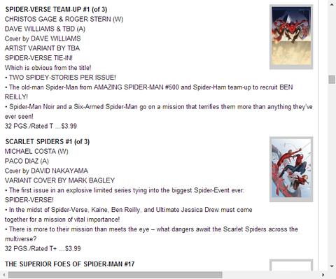 スカーレット・スパイダー #1のプレビュー!