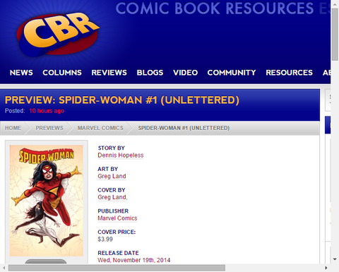 スパイダーウーマン #1の画像が公開!シルクも登場!