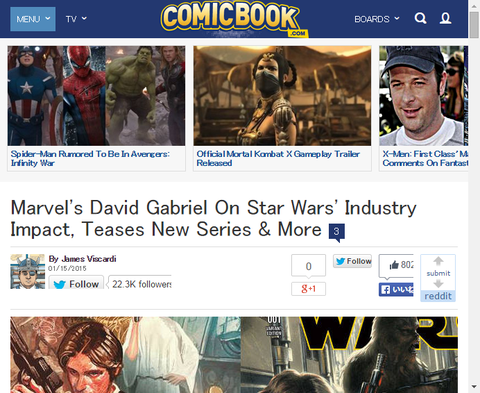 「スター・ウォーズ:ダース・ウェイダー #1」が20万部を売り渡すことをデイビット・ガブリエルが明かす!スター・ウォーズ #1の新たなヴァリアントカバーも!