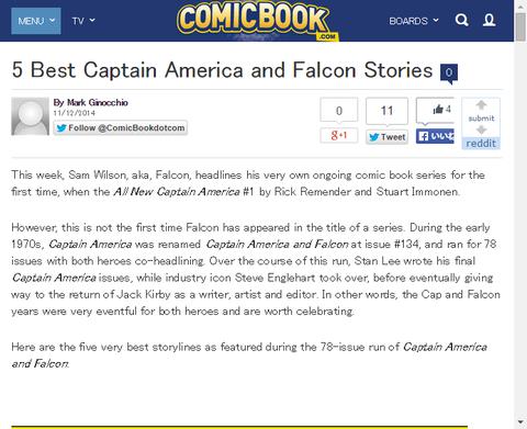 キャプテン・アメリカとファルコンの5つのベストストーリー!