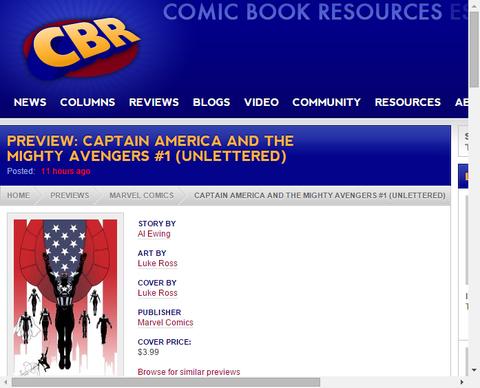 キャプテン・アメリカ・アンド・ザ・マイティ・アベンジャーズ #1のプレビュー!(アンリテッド)