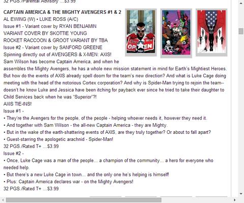 キャプテン・アメリカ&ザ・マイティ・アベンジャーズ  #1 & 2のレビュー!