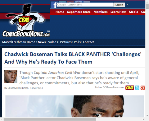 チャドウィック・ボーズマンはブラックパンサーの「挑戦」と彼らと向き合う準備ができていると話す!