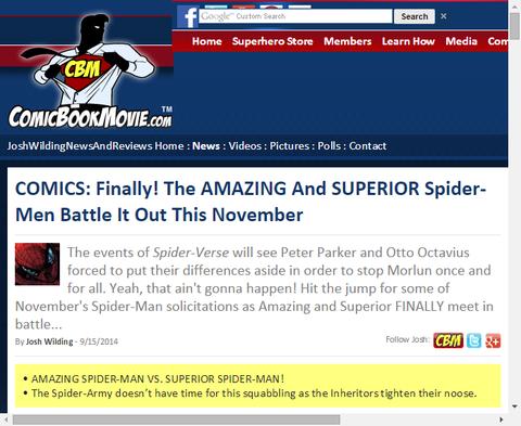 11月アメイジングとスペリアーのスパイダーマンが戦う!マイルズ・モラレスはアニメのアルティメット・スパイダーマンと共闘!