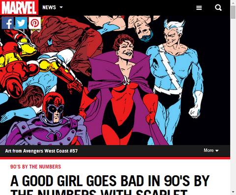 スカーレットウィッチをグッドガールからバッドに変えた90年代のコミックを数字で振り返る!