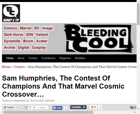 サム・ハンフリーズがゲーム「コンテスト・オブ・チャンピオン」、マーベルの宇宙でのクロスオーバーについて言及!