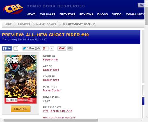 ジョニー・ブレイズは敵となるのか味方となるのか!?オールニュー・ゴーストライダー #10のプレビュー画像が更新!