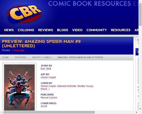 アメイジング・スパイダーマン #9のプレビュー!