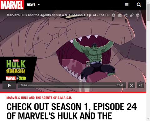 「ハルク・アンド・エージェント・オブ・スマッシュ」シーズン1のエピソード24のフルが公開!