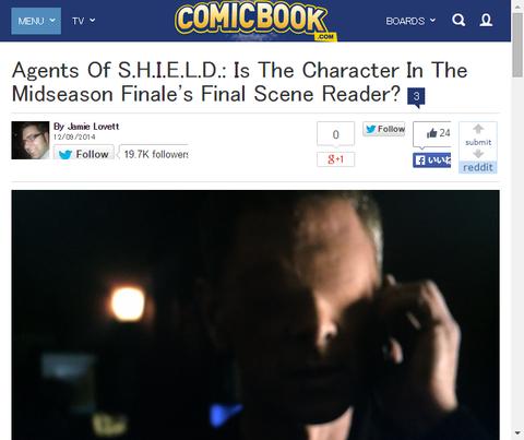 ドラマ「エージェント・オブ・シールド」シーズン2前半のフィナーレの最後に現れた人物は誰だ!?