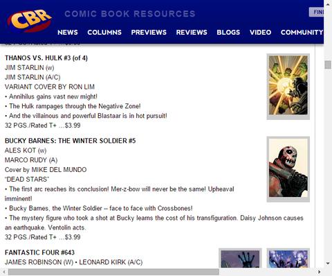 ネガティブゾーンで暴れまわれ!サノス VS. ハルク #3のプレビュー!