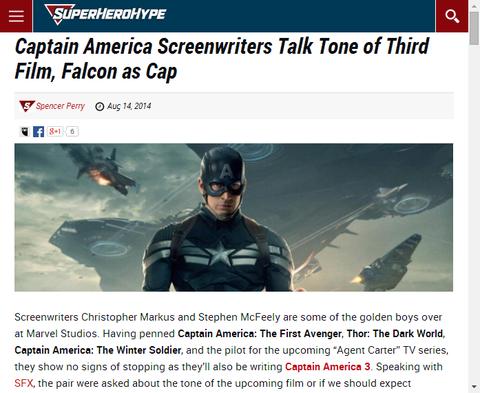 キャプテン・アメリカのシナリオ作家が第三弾について述べる!