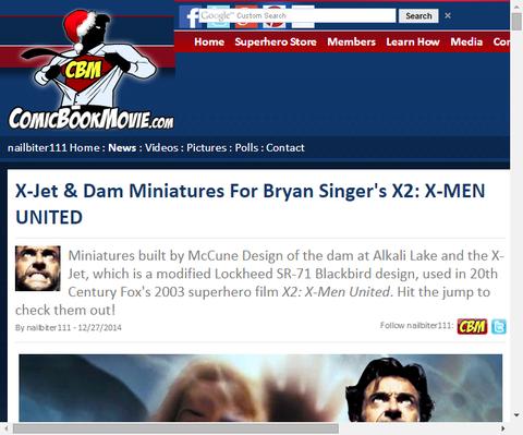 映画「X-MEN2」でのX-ジェットの模型やセットの作成風景が公開!