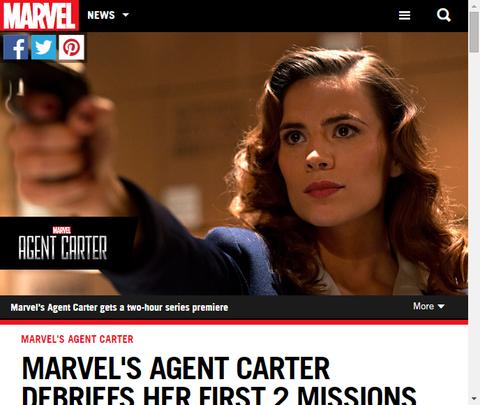マーベルのドラマ「エージェント・カーター」の最初の2つのエピソードのストーリーとタイトルが公開!