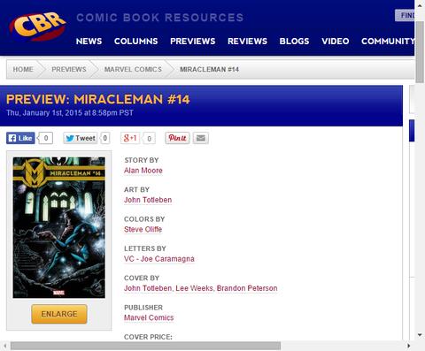 ミラクルマンが地球に戻ってくる!ミラクルマン #14のプレビュー画像が更新!