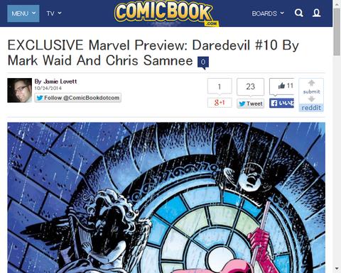 デアデビル #10の新たな画像が公開!