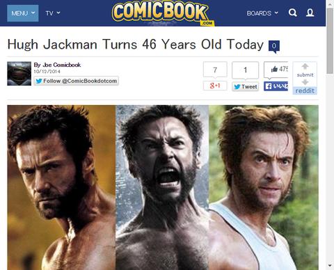 本日10月12日はヒュー・ジャックマンの誕生日!
