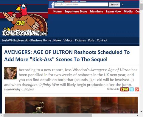 映画「アベンジャーズ:エイジ・オブ・ウルトロン」の1月の追加撮影にはトム・ヒドルストンも!