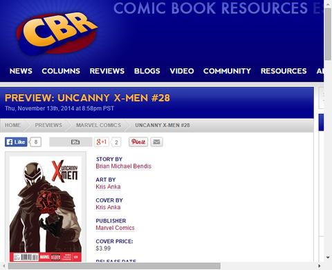マグニートーの帰還!アンキャニー・X-MEN #28のプレビュー画像!