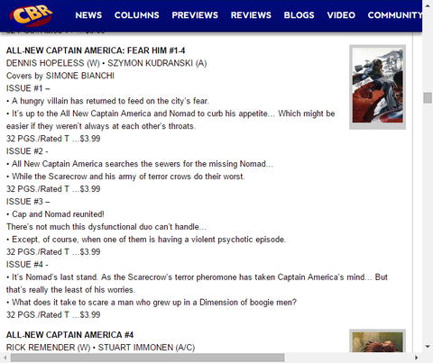 オールニュー・キャップとノーマッドの新たな冒険!オールニュー・キャプテン・アメリカ:フィアー・ヒム #1-4のプレビュー!