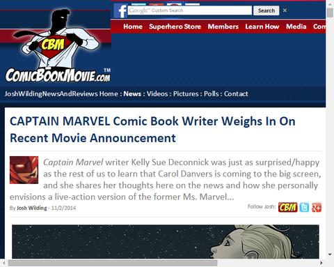 キャプテン・マーベルのコミックライターは映画化に驚いていた!