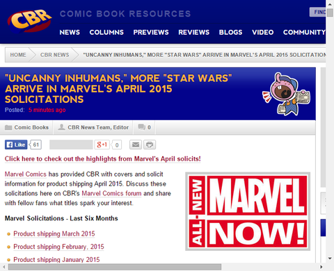 マーベルから2015年4月に発売されるTPB一覧!